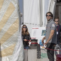 Doors open for a day at the base of the Luna Rossa Prada Pirelli team