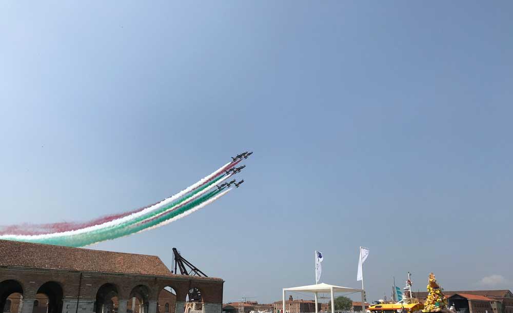 la pattuglia acrobatica delle Freccie Tricolore