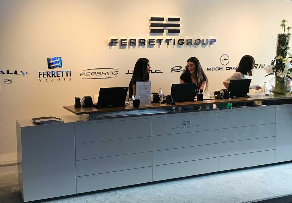 Lo stand del gruppo Ferretti